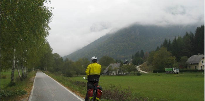 The Sava cycle path. The photo was taken in October so its a little rainy 1fc8f4a88